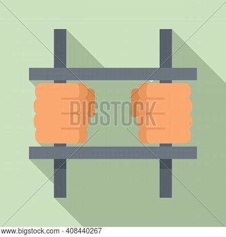 Prison Bar Gate Icon. Flat Illustration Of Prison Bar Gate Vector Icon For Web Design