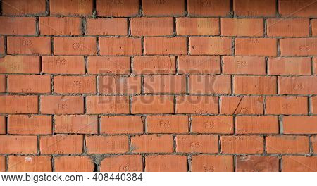 Background Of Red Brown Brick Wall Texture