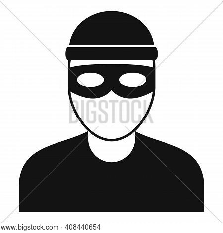 Bandit Icon. Simple Illustration Of Bandit Vector Icon For Web Design Isolated On White Background