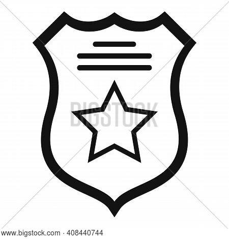 Prison Guard Shield Icon. Simple Illustration Of Prison Guard Shield Vector Icon For Web Design Isol