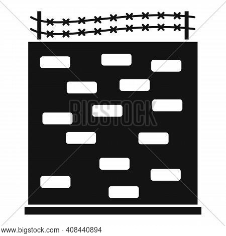 Prison Building Wall Icon. Simple Illustration Of Prison Building Wall Vector Icon For Web Design Is