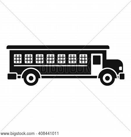 Prison Bus Icon. Simple Illustration Of Prison Bus Vector Icon For Web Design Isolated On White Back