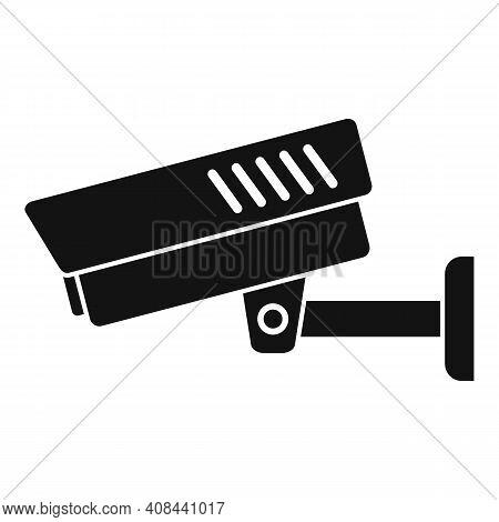 Prison Security Camera Icon. Simple Illustration Of Prison Security Camera Vector Icon For Web Desig