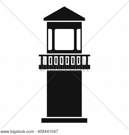 Prison Guard Tower Icon. Simple Illustration Of Prison Guard Tower Vector Icon For Web Design Isolat