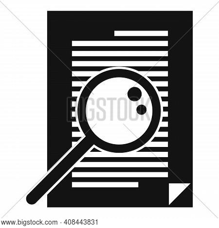 Notary Magnifier Paper Icon. Simple Illustration Of Notary Magnifier Paper Vector Icon For Web Desig