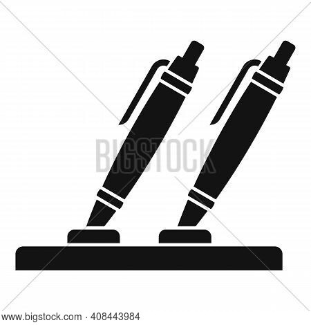 Notary Pens Stand Icon. Simple Illustration Of Notary Pens Stand Vector Icon For Web Design Isolated
