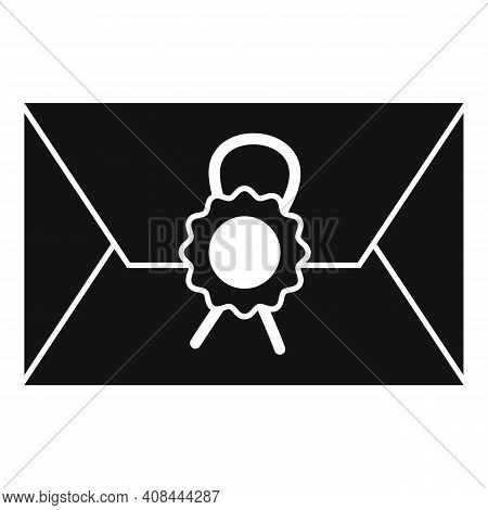 Notary Testament Letter Icon. Simple Illustration Of Notary Testament Letter Vector Icon For Web Des