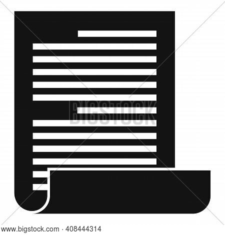 Notary Testament Icon. Simple Illustration Of Notary Testament Vector Icon For Web Design Isolated O