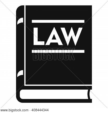 Notary Law Book Icon. Simple Illustration Of Notary Law Book Vector Icon For Web Design Isolated On