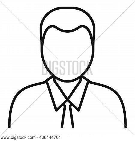 Notary Man Icon. Outline Notary Man Vector Icon For Web Design Isolated On White Background