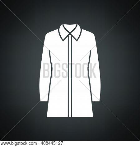 Business Blouse Icon. White On Black Background. Vector Illustration.