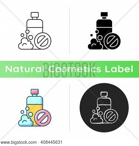Sls Free Icon. Creation Of Cosmetics Without Harmful Chemical Additives. Natural Cosmetics. Eco Frie