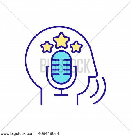 Fluent Speaker Rgb Color Icon. Speaking Fluency. Speech Production And Reception. Understanding And