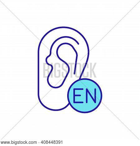 English Listening Level Rgb Color Icon. Improving Listening Comprehension. Receiving And Interpretat