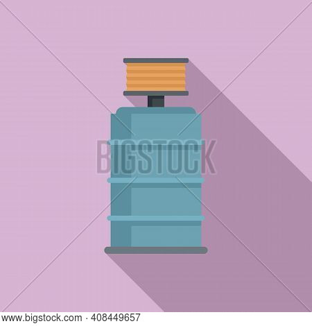 Winemaker Barrel Icon. Flat Illustration Of Winemaker Barrel Vector Icon For Web Design