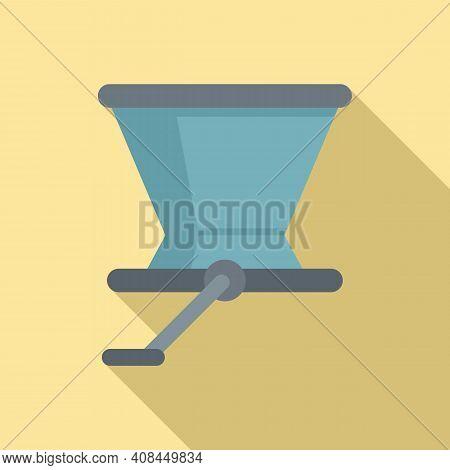 Crush Grapes Device Icon. Flat Illustration Of Crush Grapes Device Vector Icon For Web Design
