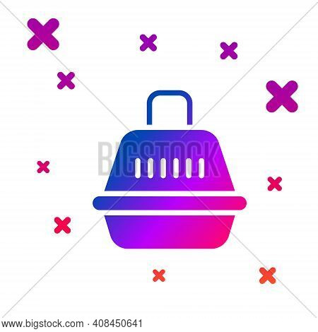 Color Pet Carry Case Icon Isolated On White Background. Carrier For Animals, Dog And Cat. Container