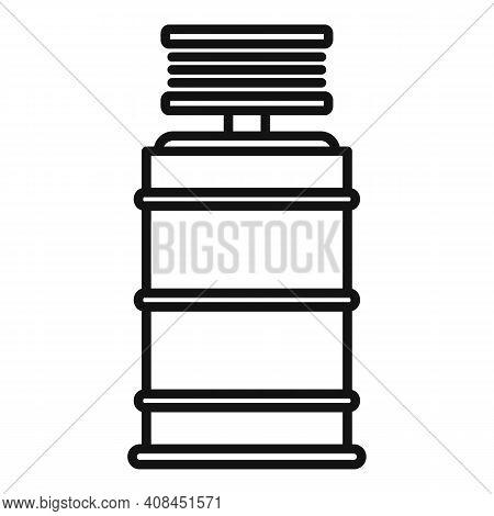 Winemaker Barrel Icon. Outline Winemaker Barrel Vector Icon For Web Design Isolated On White Backgro