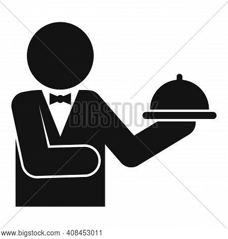 Waiter Food Tray Icon. Simple Illustration Of Waiter Food Tray Vector Icon For Web Design Isolated O
