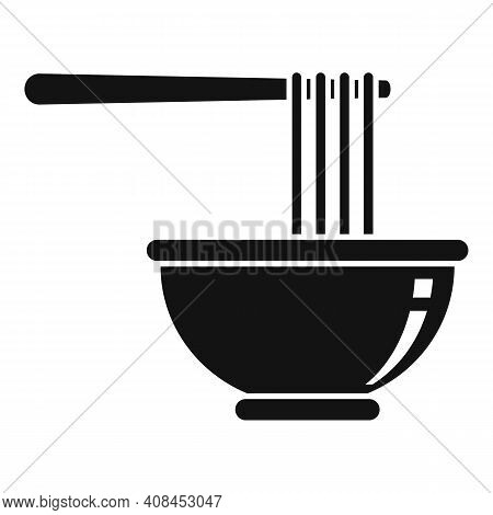 Bowl Ramen Icon. Simple Illustration Of Bowl Ramen Vector Icon For Web Design Isolated On White Back