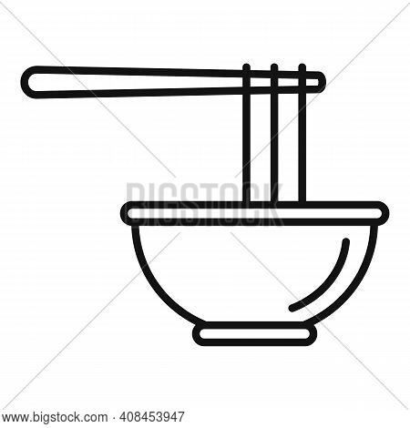 Bowl Ramen Icon. Outline Bowl Ramen Vector Icon For Web Design Isolated On White Background