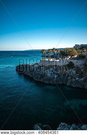 Fantastic View On Castro Sea In Puglia