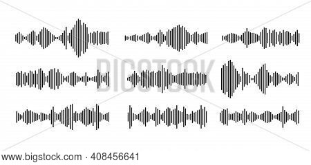 Sound Waveform Pattern For Music Player, Podcasts, Video Editor, Voise Message In Social Media Chats