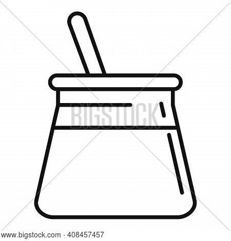 Wax Pot Stick Icon. Outline Wax Pot Stick Vector Icon For Web Design Isolated On White Background