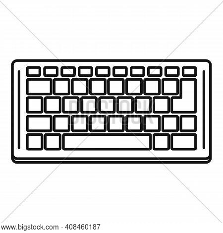 Computer Keyboard Icon. Outline Computer Keyboard Vector Icon For Web Design Isolated On White Backg