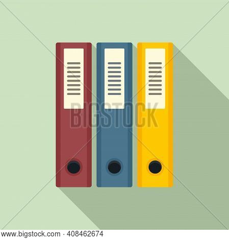 Office Manager Folders Icon. Flat Illustration Of Office Manager Folders Vector Icon For Web Design