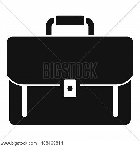 Office Manager Briefcase Icon. Simple Illustration Of Office Manager Briefcase Vector Icon For Web D