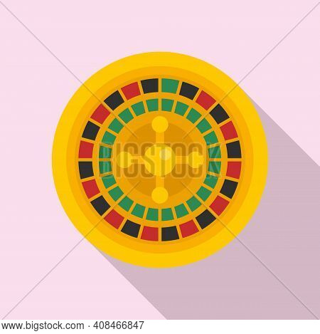 Fortune Roulette Icon. Flat Illustration Of Fortune Roulette Vector Icon For Web Design