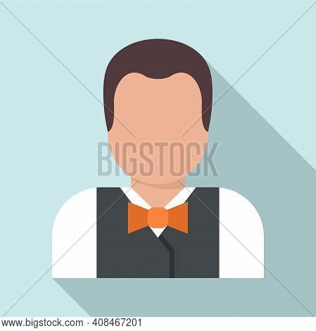 Casino Croupier Icon. Flat Illustration Of Casino Croupier Vector Icon For Web Design