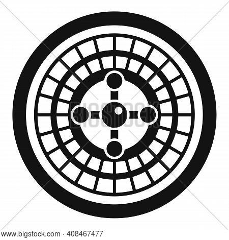 Fortune Roulette Icon. Simple Illustration Of Fortune Roulette Vector Icon For Web Design Isolated O