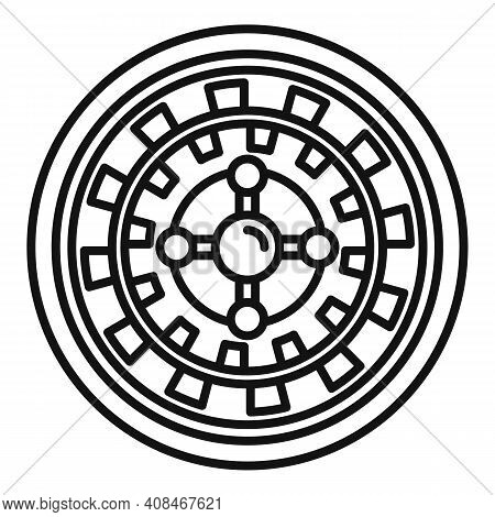 Fortune Roulette Icon. Outline Fortune Roulette Vector Icon For Web Design Isolated On White Backgro