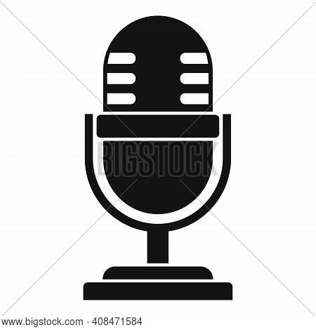 Tv Studio Microphone Icon. Simple Illustration Of Tv Studio Microphone Vector Icon For Web Design Is