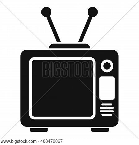 Old Tv Set Icon. Simple Illustration Of Old Tv Set Vector Icon For Web Design Isolated On White Back