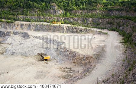 Quarry In Which Is Obtained Produce A Granite Macadam, Kind