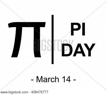 Pi Day Symbol, Sign, Logo (3.14). Padlock Design. White Background. Vector Illustration. March 14.