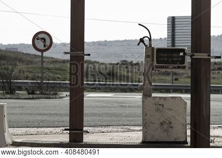 Abandoned Gas Station Near A Secondary Road