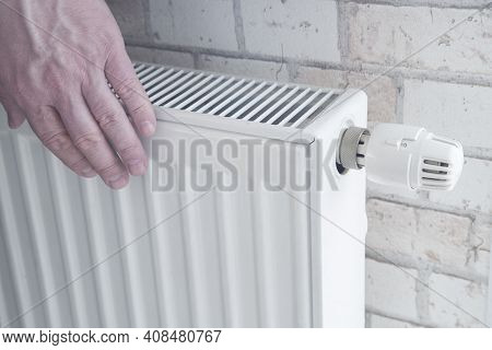 Radiator For Home Heating. Water Heating., Thermostat, Hot, Heat, Floor