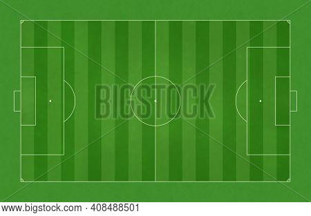 High Resolution Illustration Background Texture Soccer Field. Dimensions Close To A Real One.