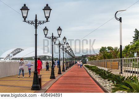 Sochi, Russia - May 30. 2018. The Embankment In Imereti Bay