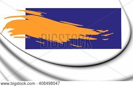 3d Flag Of Bergen (north Holland), Netherlands. 3d Illustration.