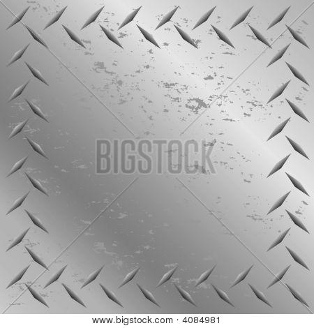 Worn Diamond Plate Frame