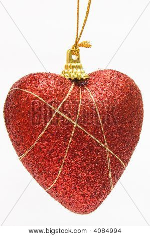 Christmas Deep Red Heart