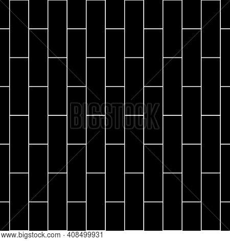 Seamless Brickwall Pattern. Bricks Cladding Wall. Mosaic Motif. Walling Wallpaper. Geometric Ornamen