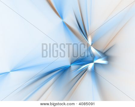 Graphics texture. Computer rendered background. 3D fractal. Blue abstract against white. poster