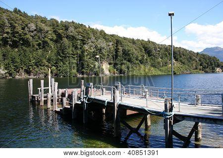 Lake Pier In New Zealand