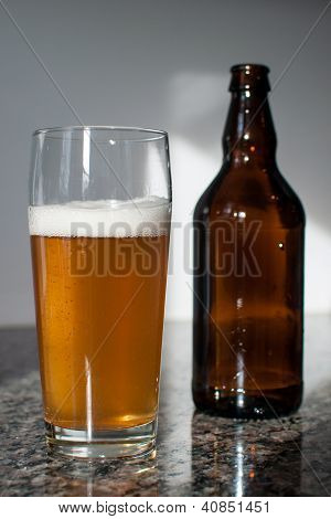 Craft Beer Glass And Beer Bottle